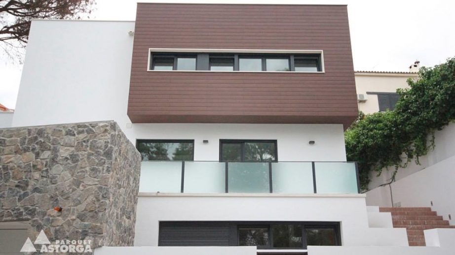 Tarimas exteriores para revestimiento de fachadas - Materiales para fachadas exteriores ...